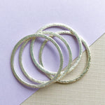 Brushed Silver Circle - 4 Pack - Christine White Style