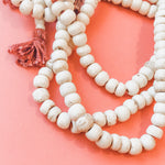 8mm Natural Bone Mala Strand