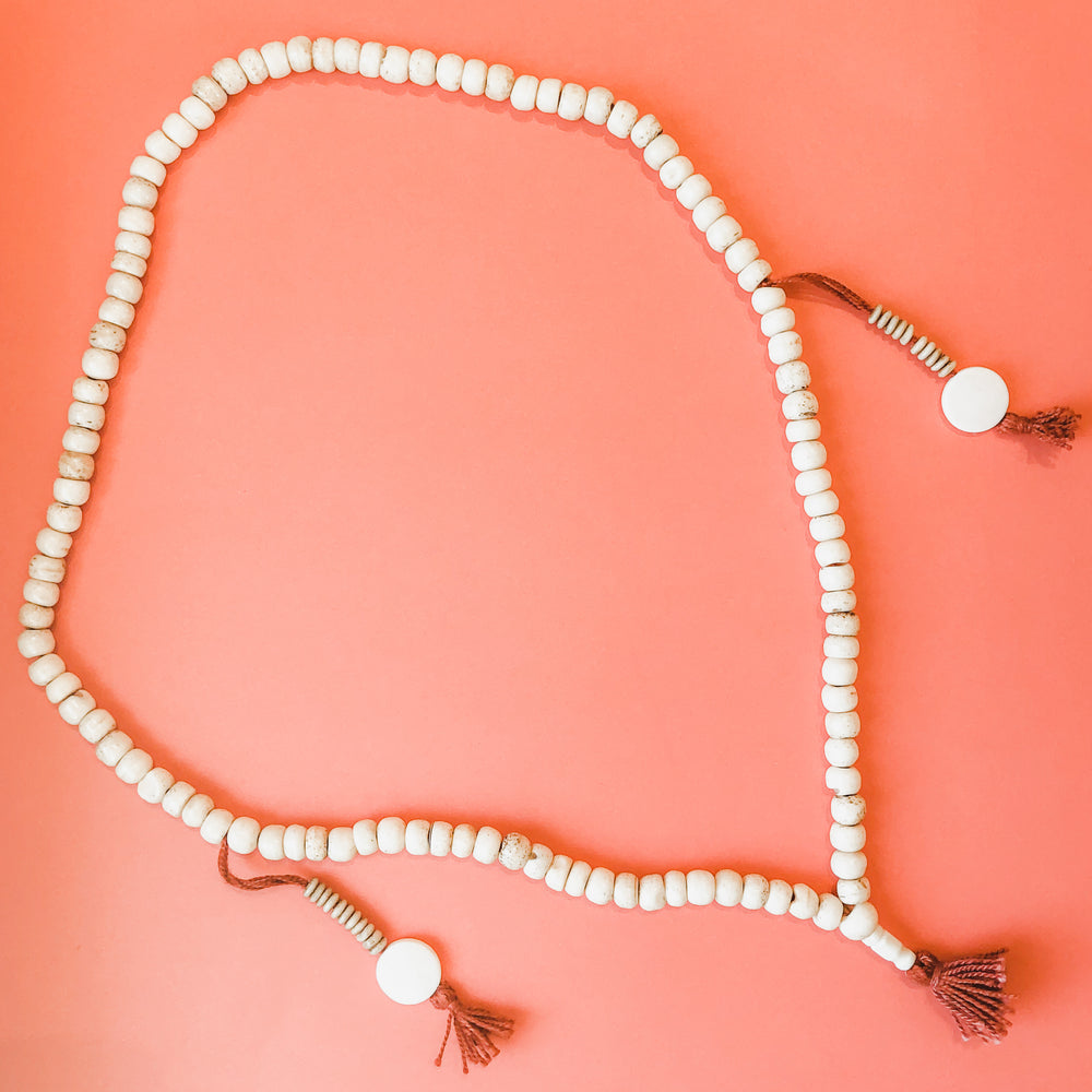 Load image into Gallery viewer, 8mm Natural Bone Mala Strand