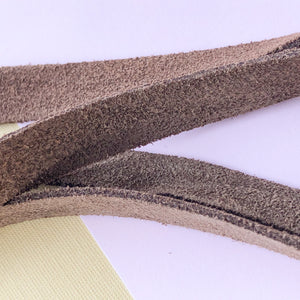 10mm Chocolate Natural Suede - Christine White Style