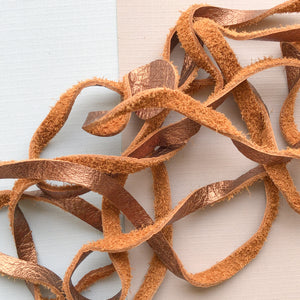 6mm Metallic Copper Soft Deer Skin - 6.5'