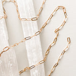 7mm Shiny Electroplated Gold Flat Paperclip Chain
