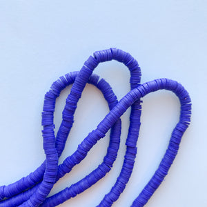 6mm Blue Pantsuit Polymer Clay Strand