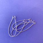 Silver Kidney Wire - 4 pack