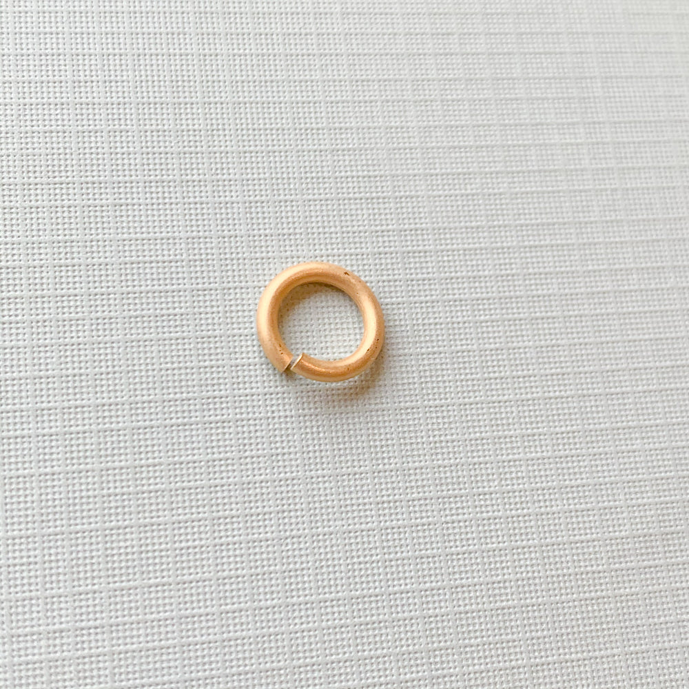 12mm Heavy Duty Open Jump Ring Brushed Gold - Pack of 20 - Christine White Style