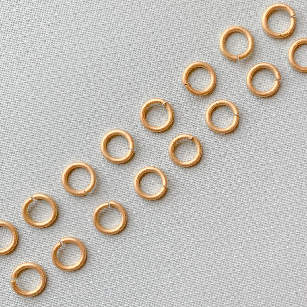 12mm Heavy Duty Open Jump Ring Brushed Gold - Pack of 20