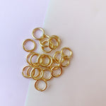 12mm Heavy Duty Jump Ring Shiny Gold Color - Pack of 20 - Christine White Style
