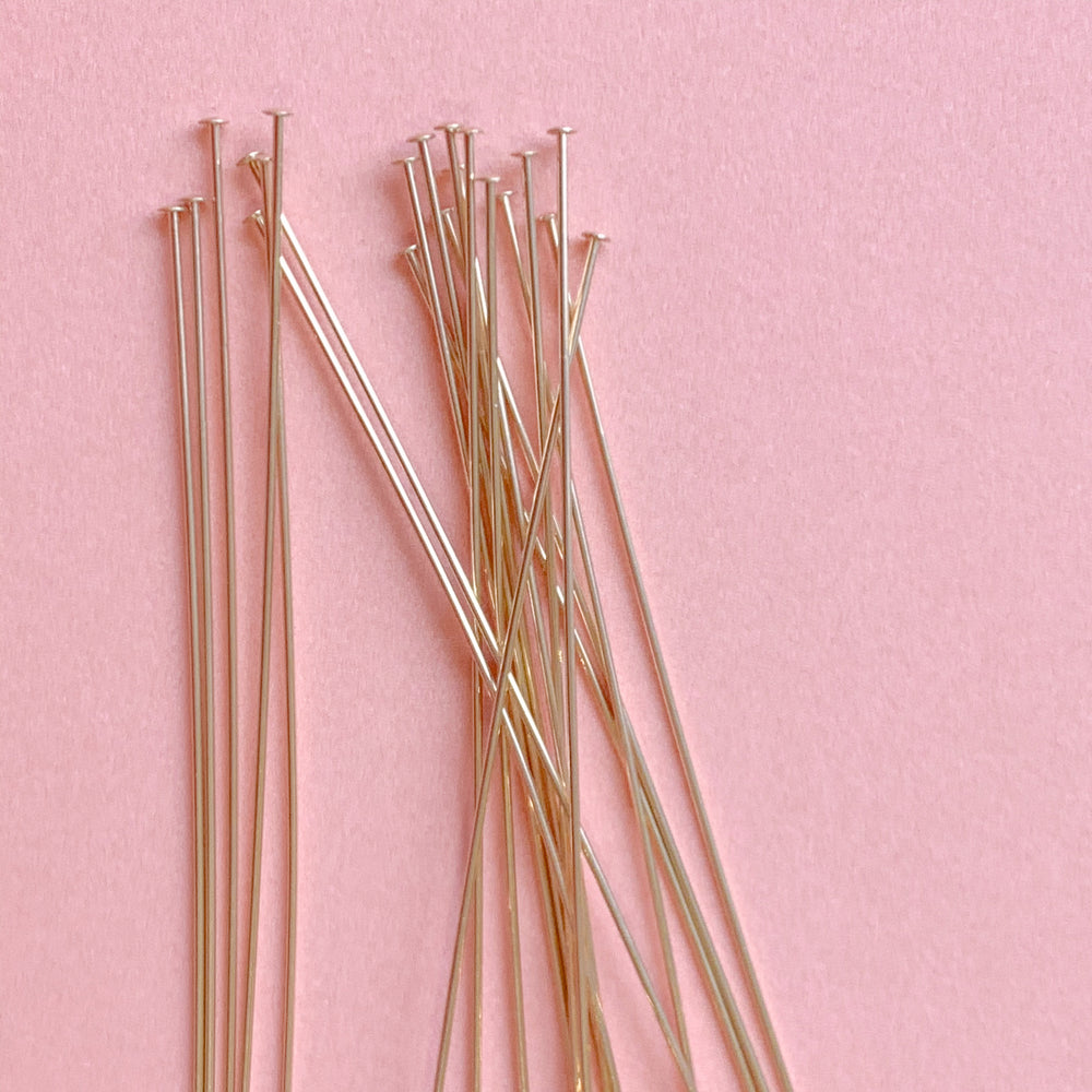 "2-3"" Gold-Filled Headpin - Pack of 20 - Christine White Style"