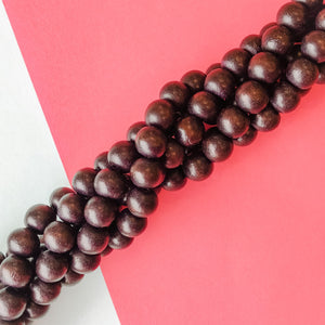 10mm Espresso Wood Rounds Strand - Christine White Style
