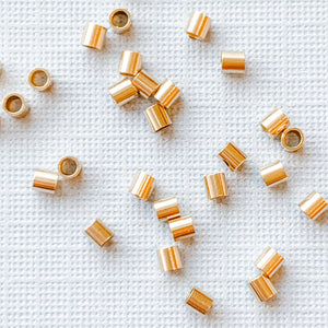 Load image into Gallery viewer, 2mm Gold-Filled Crimp Tubes - 30 Pack - Christine White Style