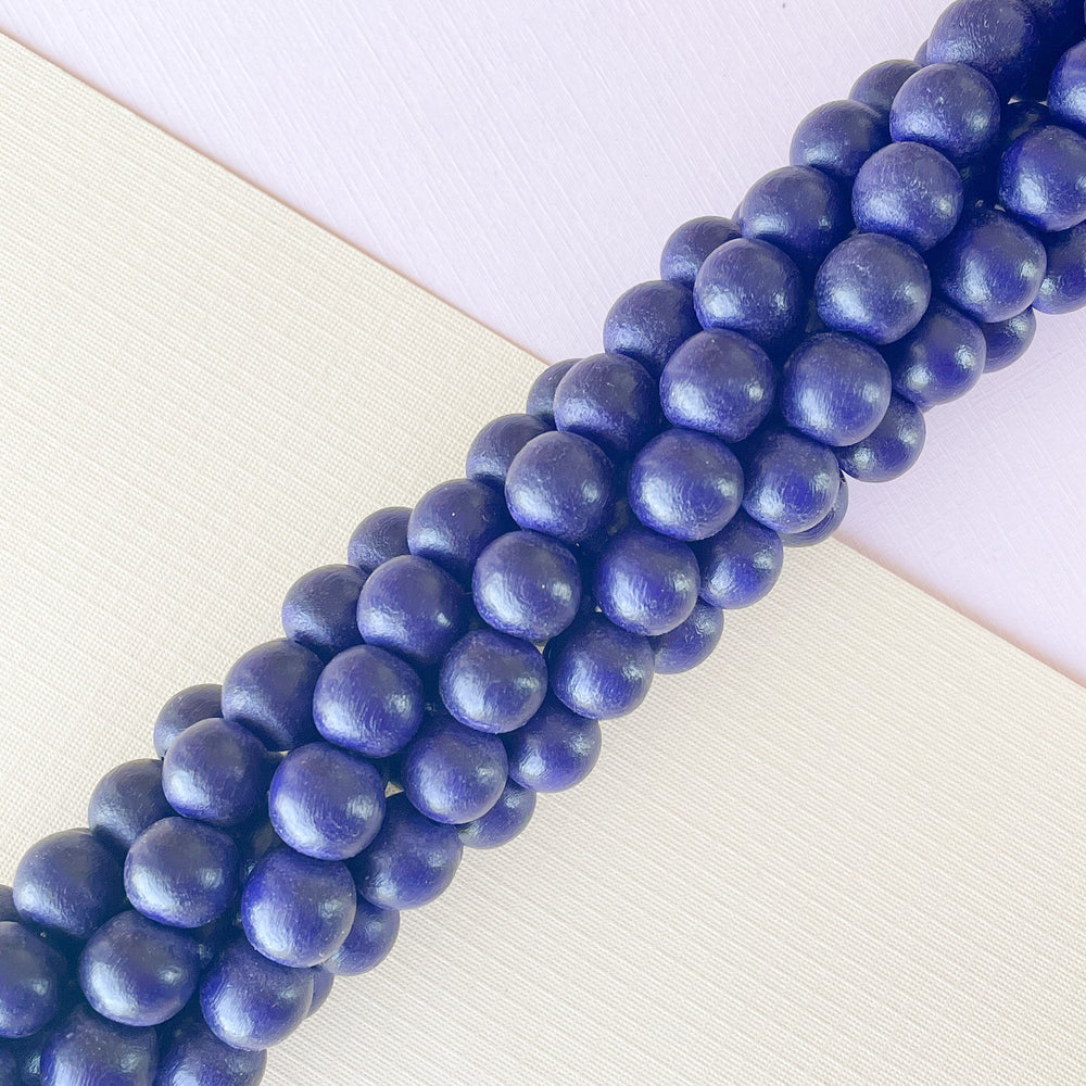 10mm Navy Wood Rounds Strand