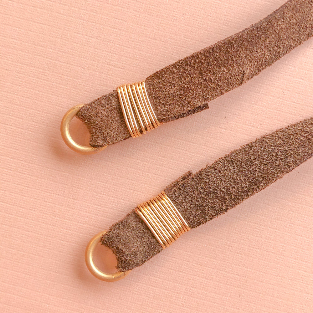 Chocolate Natural Suede Strap