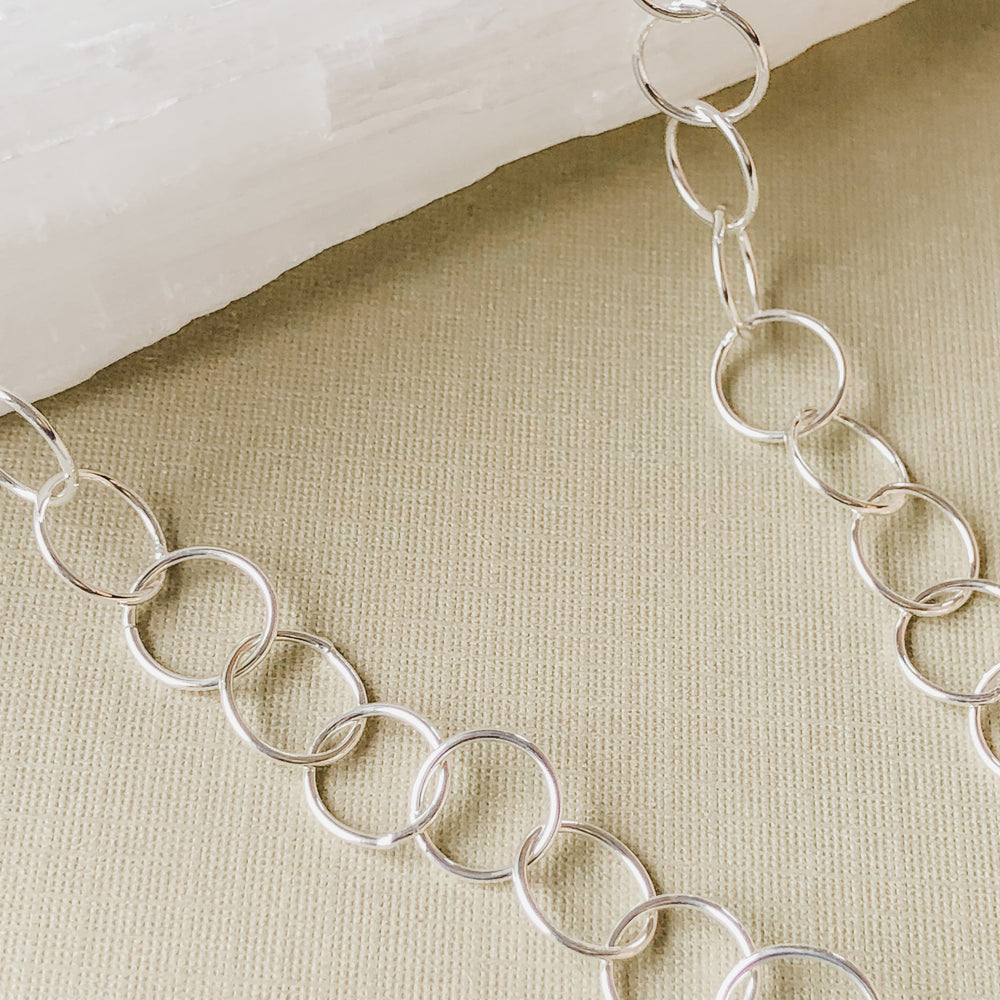 10mm Shiny Silver Round Chain
