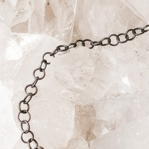 3mm Gunmetal Round Cable Chain - Christine White Style