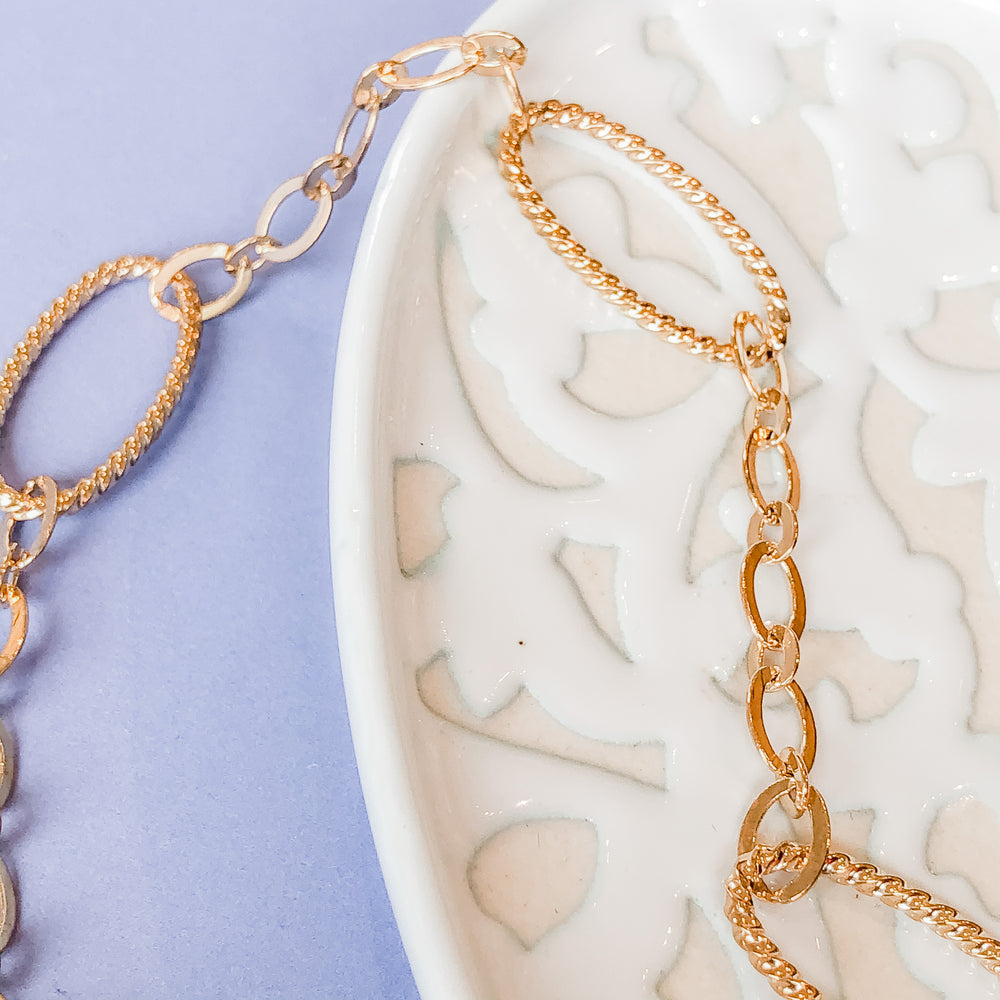 27mm Shiny Gold Decorative Oval Cable Chain