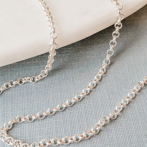 2.5mm Shiny Silver Rolo Chain