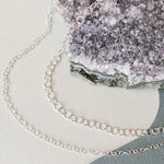 3-5mm Shiny Silver Round Cable Chain