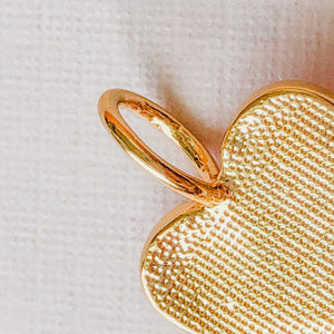 Load image into Gallery viewer, 14mm Pink Enamel Gold Heart Pendant