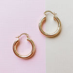 25mm Shiny Gold Hoop Pair