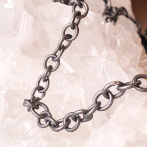 Load image into Gallery viewer, 8mm Matte Gunmetal Cable Chain - Christine White Style