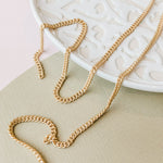 4mm Matte Brushed Gold Curb Chain
