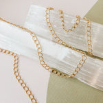 5mm Brushed Gold Curb Chain