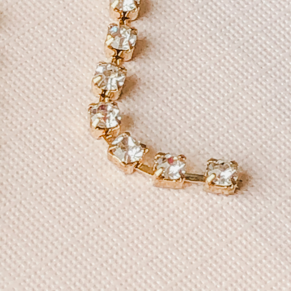 3mm Rhinestone Chain - Christine White Style