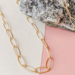 18mm Brushed Gold Rounded Paperclip Chain