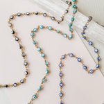 4mm Evil Eye Chain - Various Colors