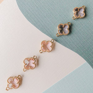 12mm Ballerina Crystal Gold Quatrefoil Connector