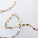 11mm Gold Plated Paperclip Chain