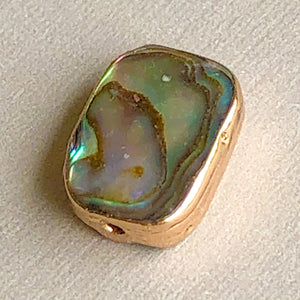 Load image into Gallery viewer, 10mm Abalone Bezel Bead - 2 Pack
