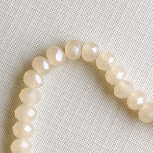 6mm Cloudy Haze Faceted Chinece Crystal Rondelle Strand