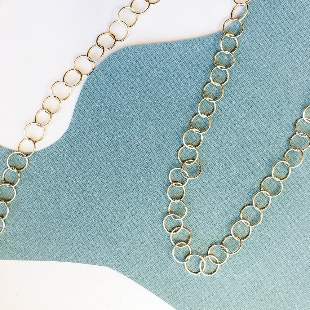 10mm Shiny Plated Gold Round Chain