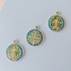 21mm Benedictine Medal Pewter Pendant - 3 Pack