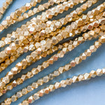 3.5mm Gold Electroplated Nugget Spacer Bead Strand