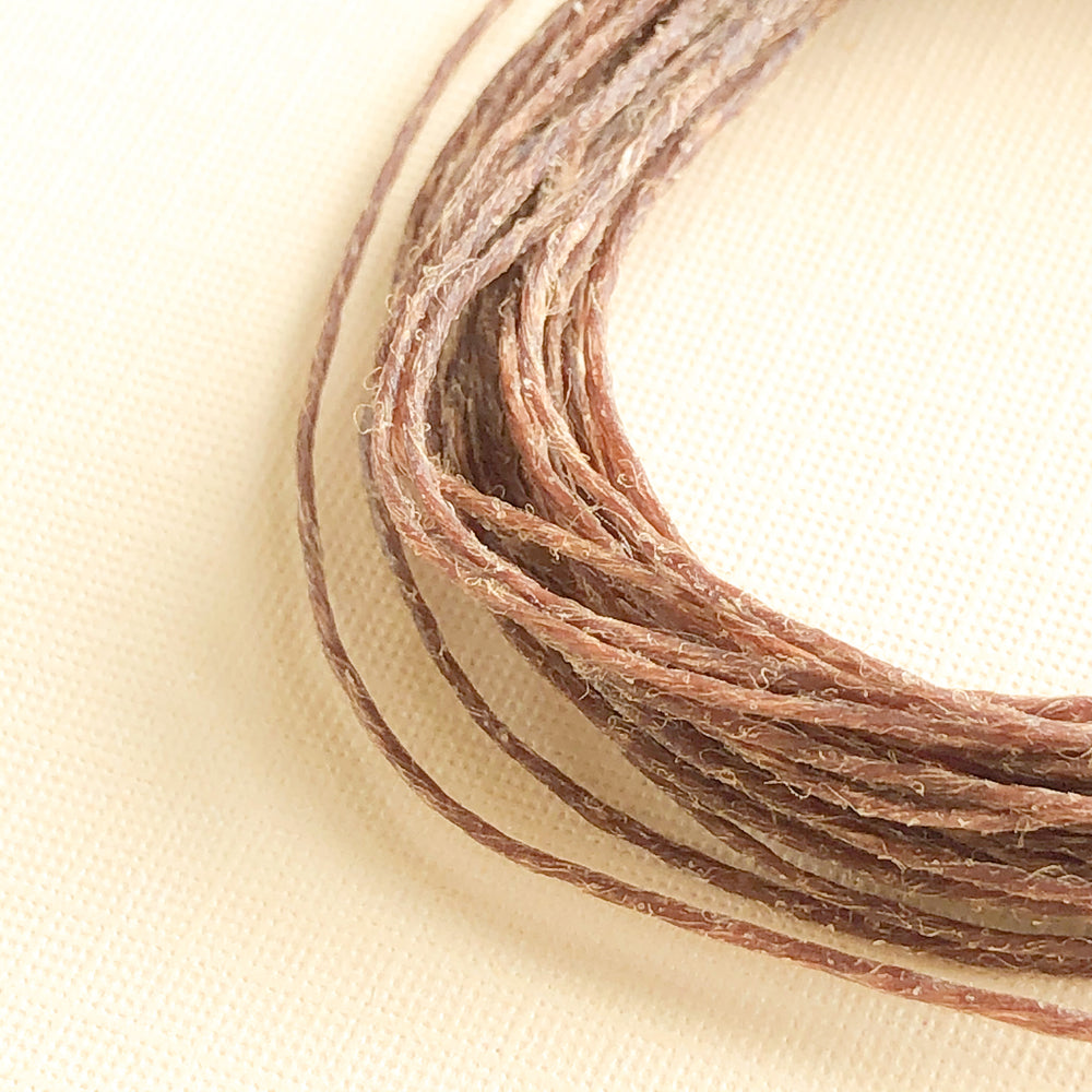 .5mm Brown Waxed Linen