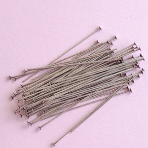 "2"" Distressed Silver 20g Headpin Pack - Christine White Style"
