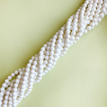 8mm White Mother Of Pearl Round Strand