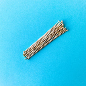 "Load image into Gallery viewer, 2"" Brushed Gold 20 Gauge Headpin 115 Pack"