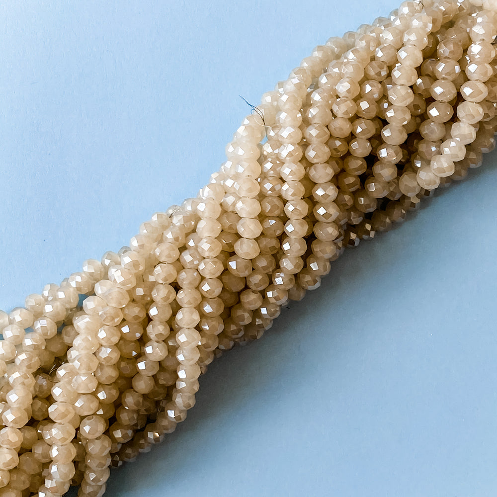 8mm Sugar Opal Crystal Rondelle Strand