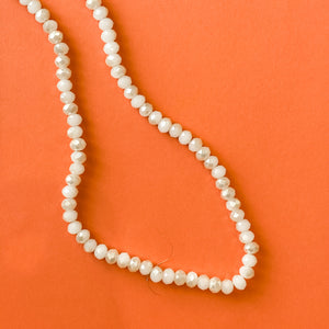 6mm Opalite Champagne Crystal Rondelle Strand