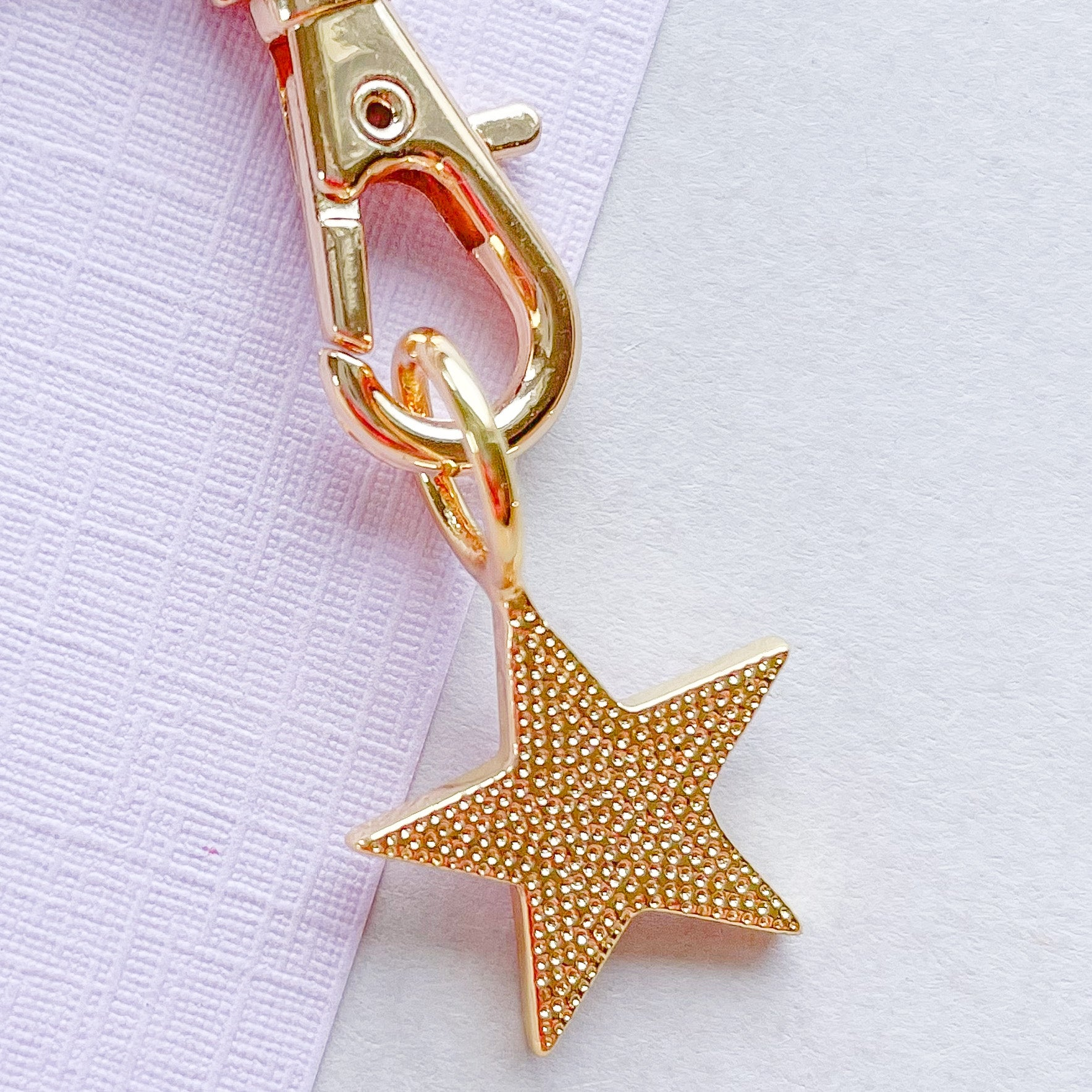 15mm Pink Enamel Star Instant Charm Necklace