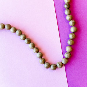7mm Round Exotic Phoebe Wood Strand