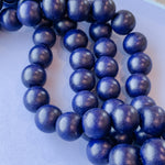 16mm Navy Wood Rounds Strand