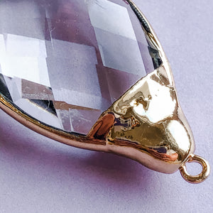 Load image into Gallery viewer, 28mm Teardrop Crystal Pendant