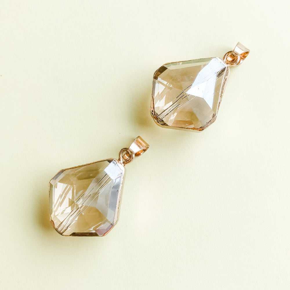 19mm Diamond Finish Kite Crystal Pendant - 2 Pack