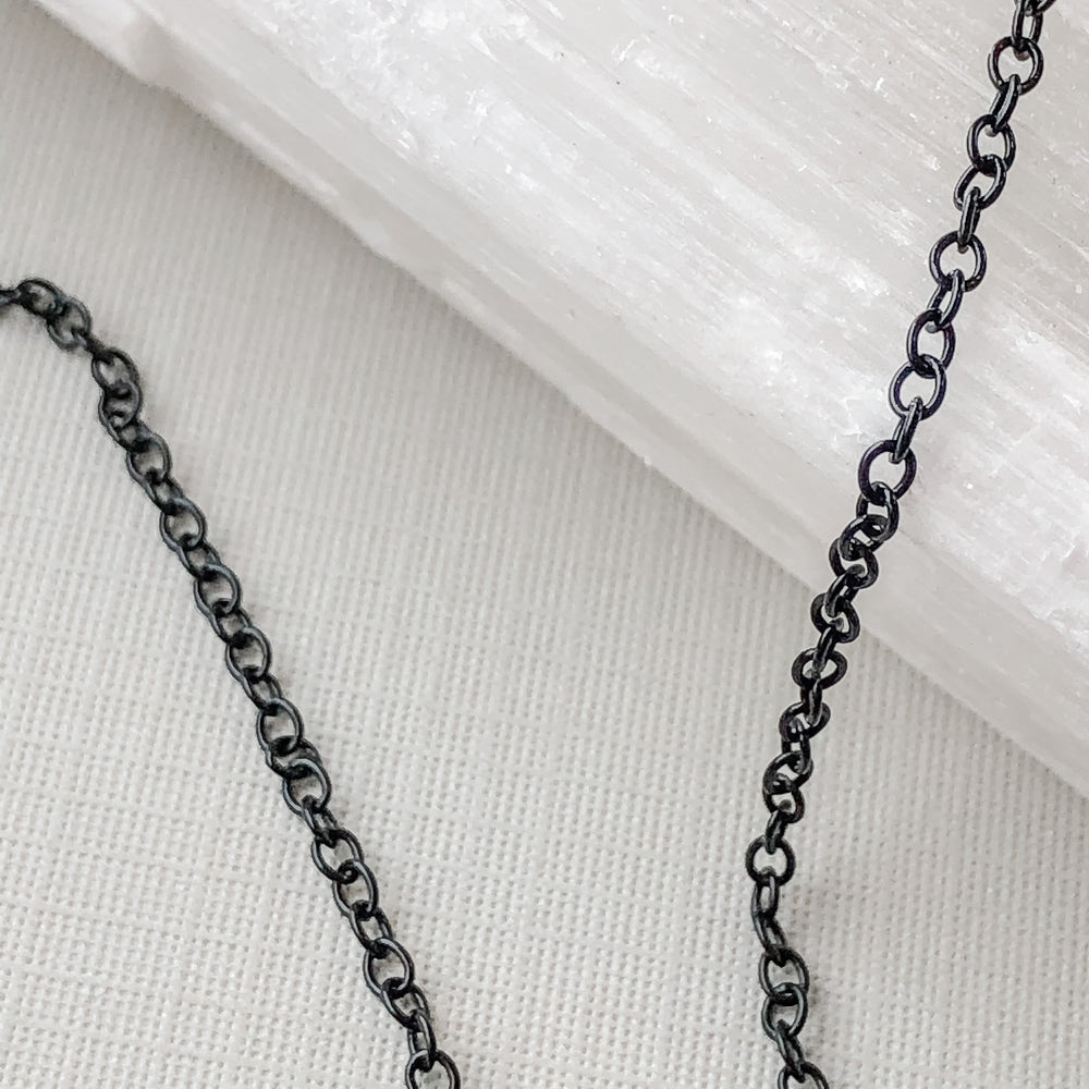 2mm Delicate Black Plated Cable Chain