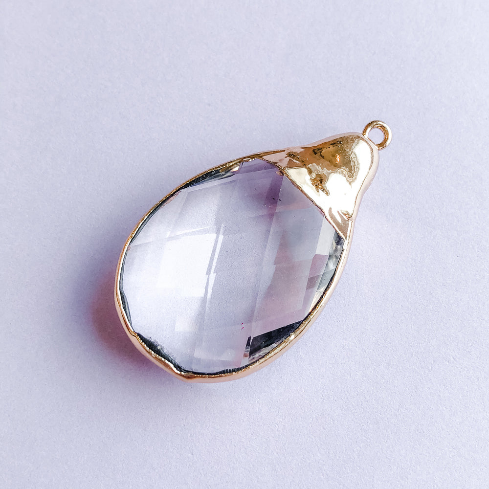 28mm Teardrop Crystal Pendant