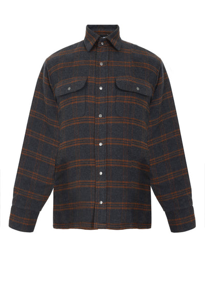 Plaid Padded Shirt Jacket